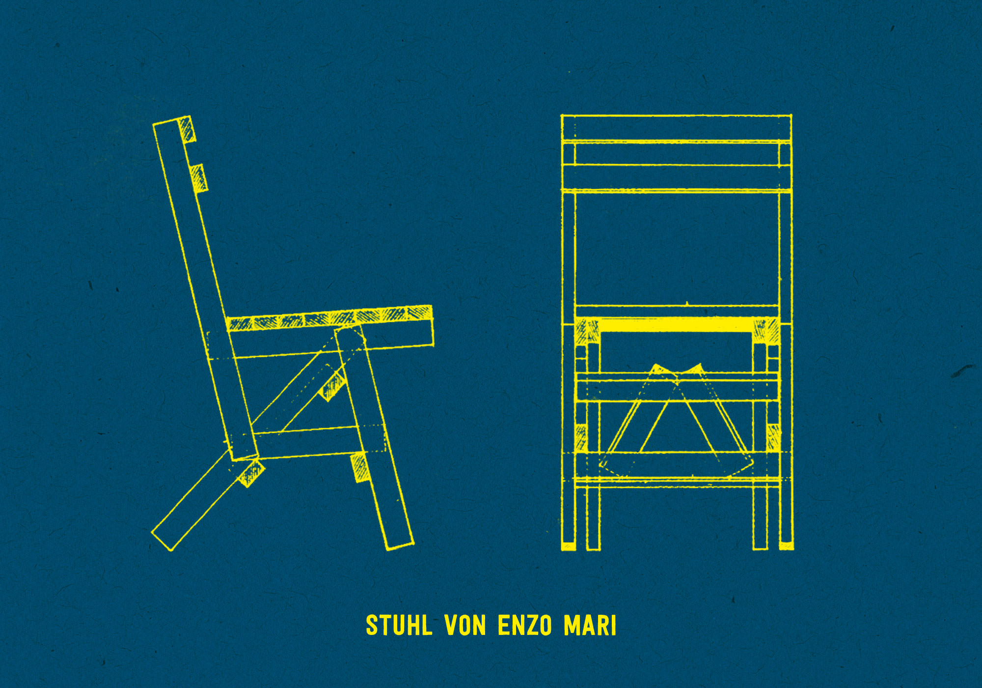Halle 36 e.V. - Werkraum W (Stuhl von Enzo Mari)